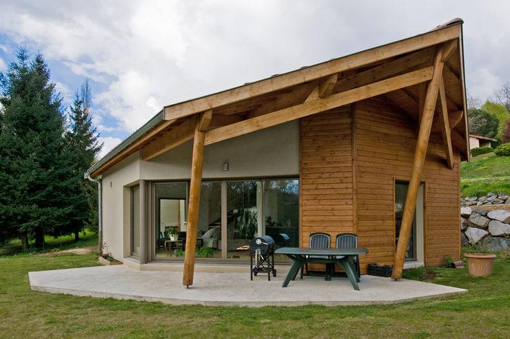 Façade coté terrasse Pierre Bernard Création Maisons originales