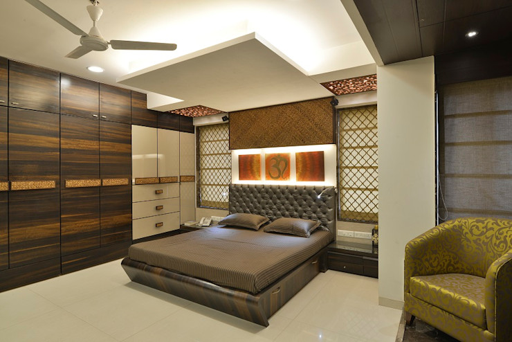 homify Bedroom پلائیووڈ Amber/Gold