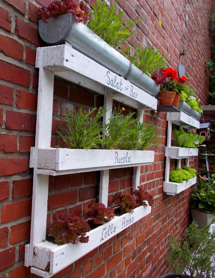 Salat-Bar aus Paletten wohnausstatter GartenAccessoires und Dekoration Holz Weiß