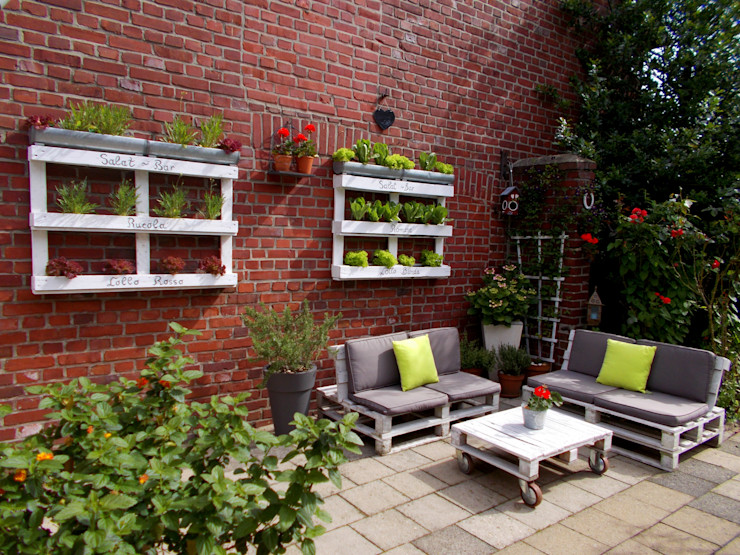 wohnausstatter 花園配件與裝飾品 木頭 White