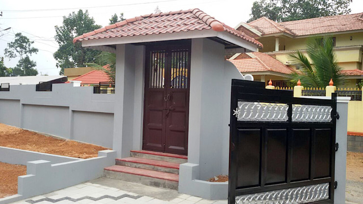 Our Interior Design Works Aishwarya Developers Asian style corridor, hallway & stairs Copper/Bronze/Brass Beige
