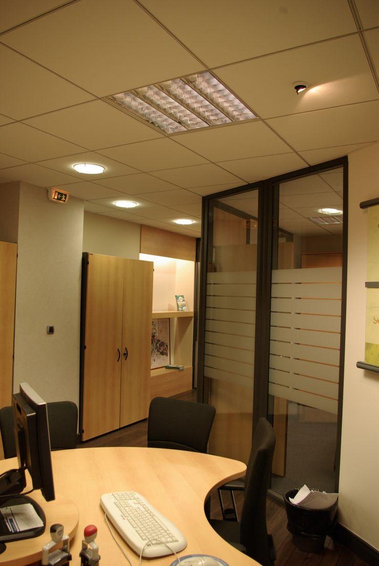 Bureau de conseiller Pierre Bernard Création Espaces de bureaux classiques Bois