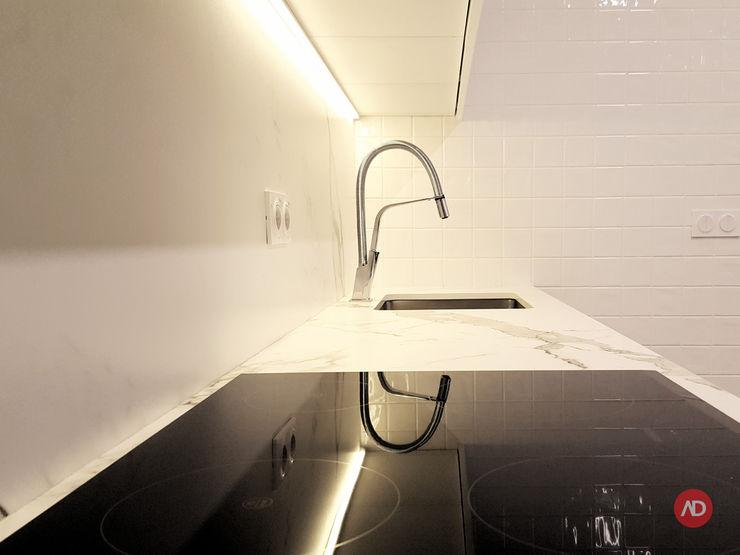 Cozinha ARCHDESIGN LX Cozinhas embutidas Mármore Branco