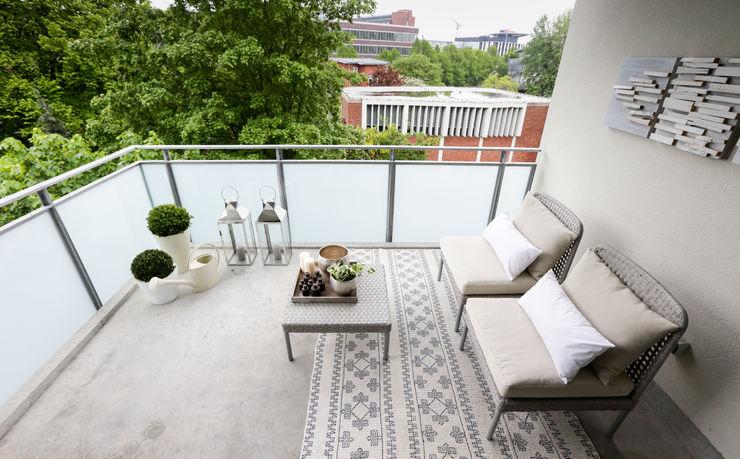 Balkon HH 9qm DIE BALKONGESTALTER Moderner Balkon, Veranda & Terrasse