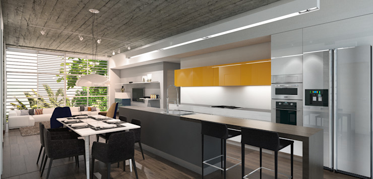 MAT Latinamerica 現代廚房設計點子、靈感&圖片