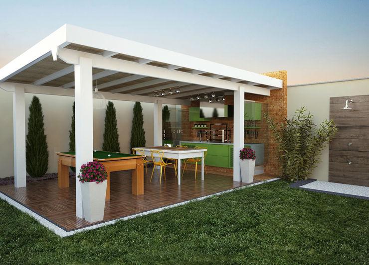 3D Lozí - Projeto e Obra Varandas, alpendres e terraços modernos