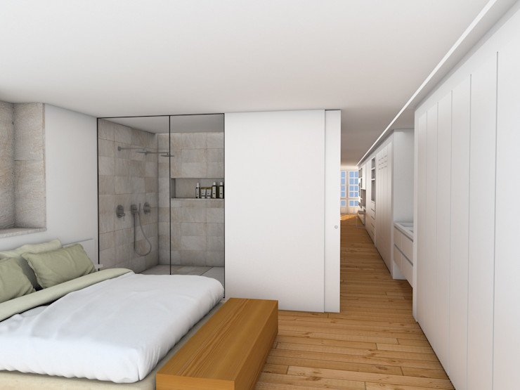 homify Chambre minimaliste Blanc