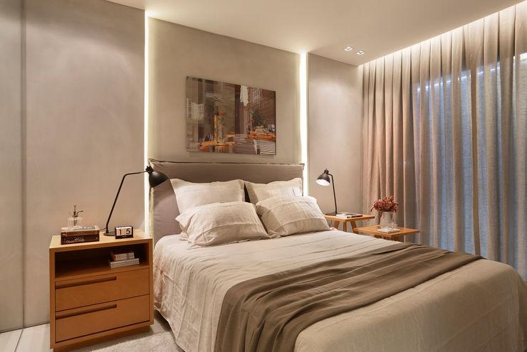 Apartamento decorado Calper Gisele Taranto Arquitetura Camera da letto moderna