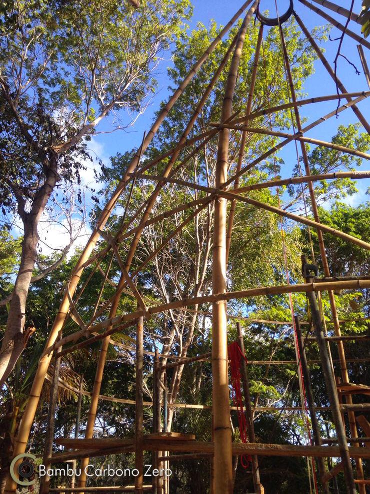 BAMBU CARBONO ZERO Rustikaler Garten Bambus Holznachbildung