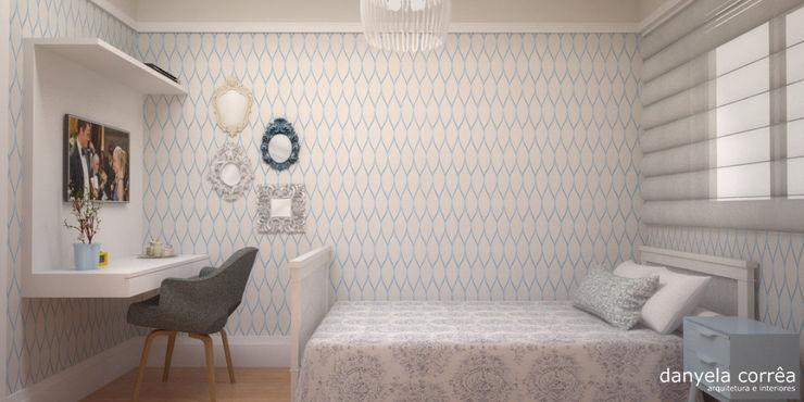 Danyela Corrêa Arquitetura Classic style bedroom Wood Blue