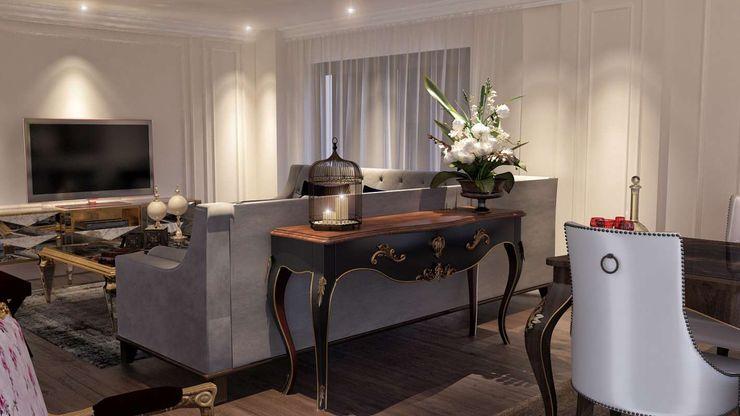 VERO CONCEPT MİMARLIK 现代客厅設計點子、靈感 & 圖片
