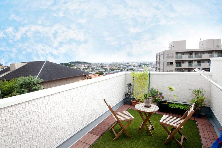 遊友建築工房 Mediterranean style balcony, veranda & terrace