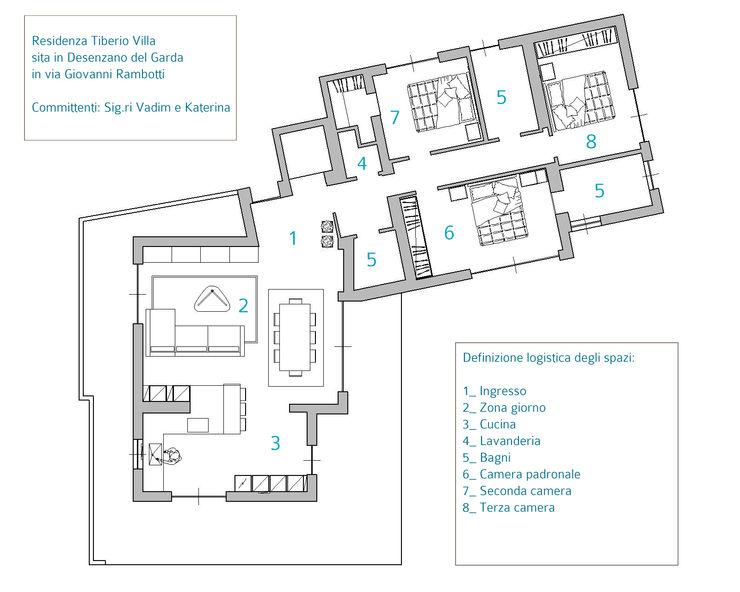 SULLE RIVE DEL LAGO DI GARDA HP Interior srl Pareti & Pavimenti in stile moderno