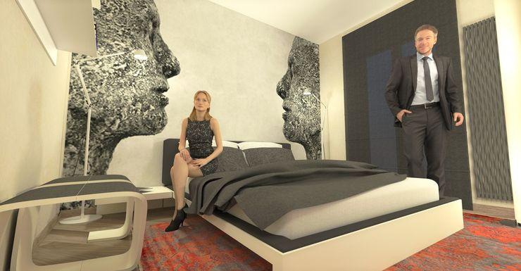 Vista della camera matrimoniale - Main bedroom view Planet G Camera da letto moderna
