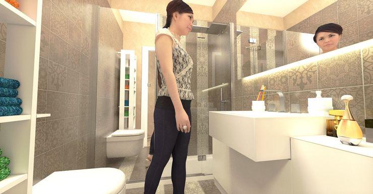 Vista del bagno lavanderia - Laundry bathroom view Planet G Bagno moderno