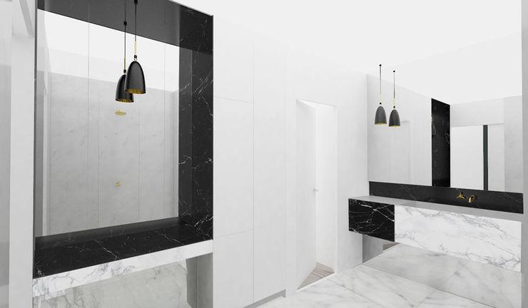 Yeme + Saunier Minimalist bathroom Marble Black