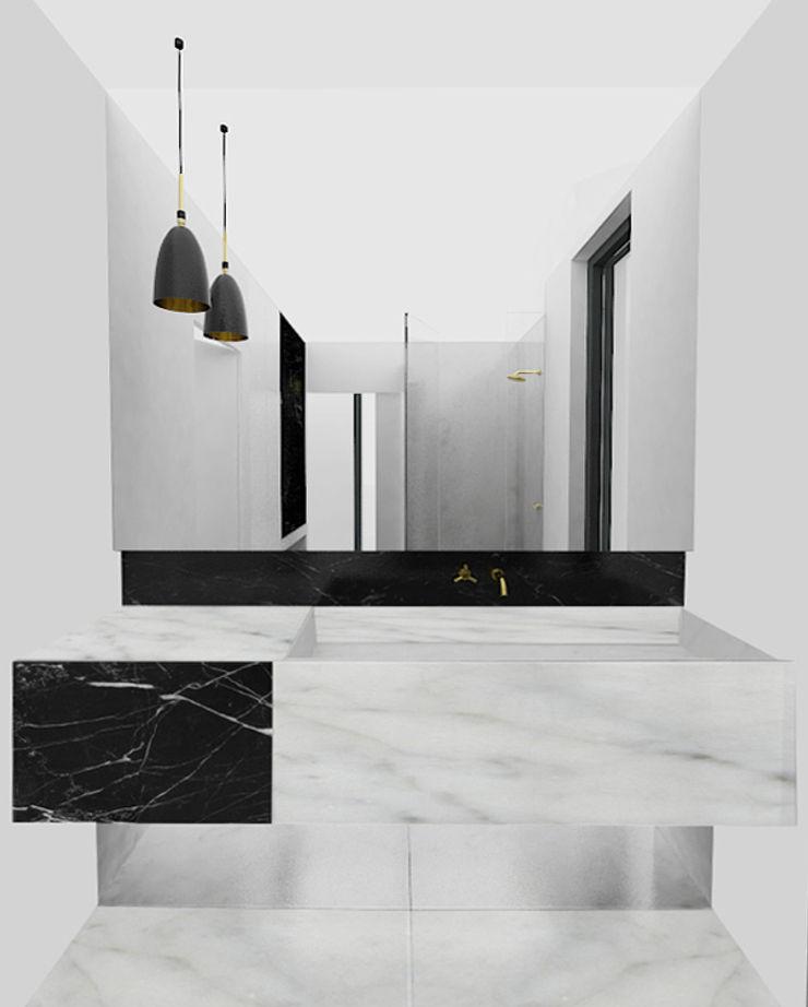 Yeme + Saunier Minimalist bathroom Marble White
