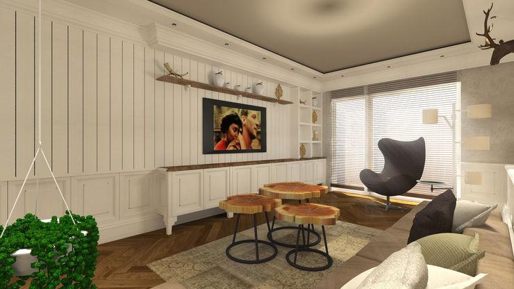 Gümüşcü Mimarlık Living room Wood White