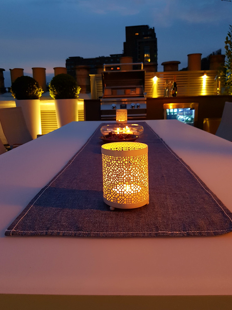 South Kensington roof terrace Paul Newman Landscapes Modern balcony, veranda & terrace