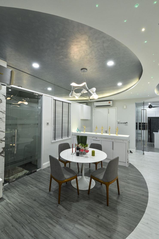 Ultramodern Loft | CONDOMINIUM Design Spirits Modern dining room
