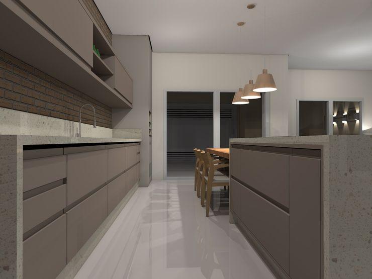 MANOELA SERAFINI ARQUITETURA E INTERIORES Modern Kitchen