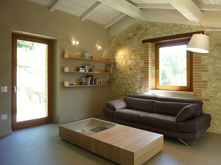 Stefano Zaghini Architetto Country style living room