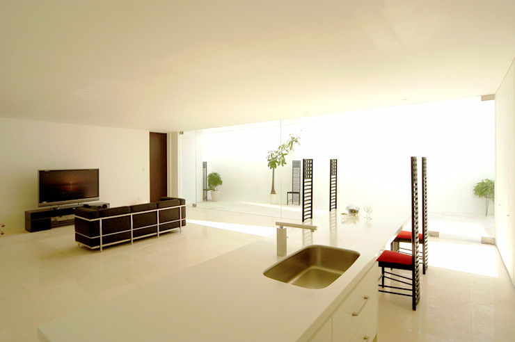 門一級建築士事務所 Kitchen Marble White