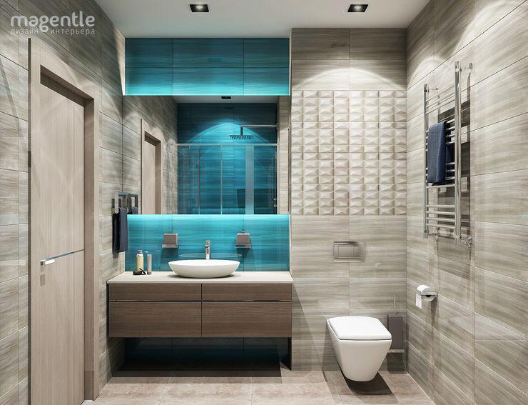Lagoon MAGENTLE Ванная комната в стиле минимализм Плитка Синий