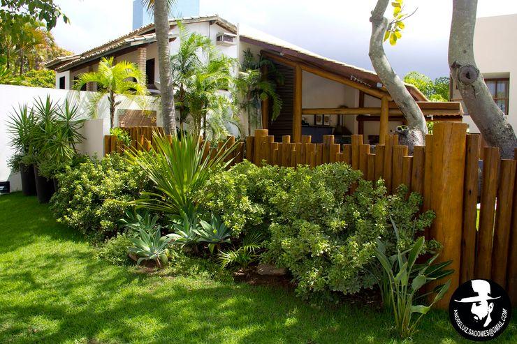 Tânia Póvoa Arquitetura e Decoração Jardines tropicales Madera maciza Verde