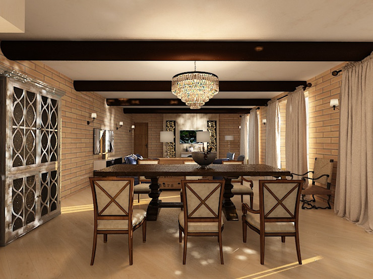 Dstudio.M Country style dining room Wood Beige