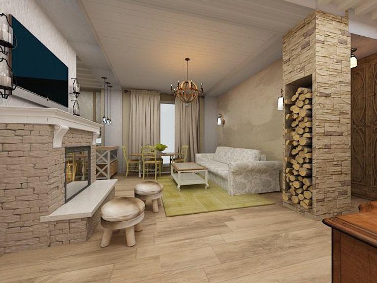 Dstudio.M Living room Bricks Green
