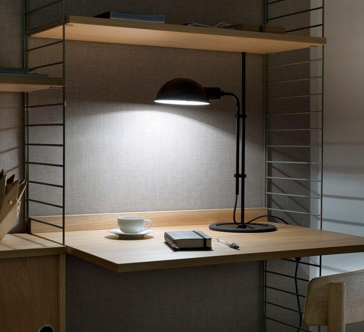 LAMPE DE BUREAU, FUNICULI, NOIR, H50,3CM - MARSET NEDGIS Espaces de bureaux modernes Fer / Acier Noir