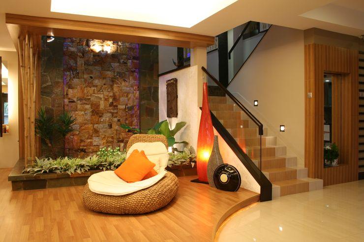 Tropical Retreat | SEMI-DETACHED Design Spirits Living room