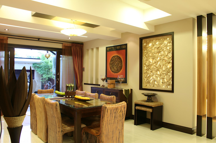 Tropical Retreat   SEMI-DETACHED Design Spirits Tropical style dining room