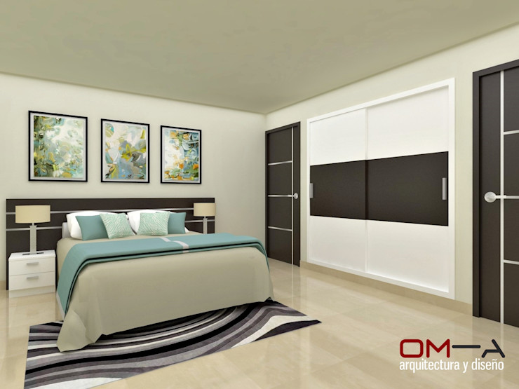 om-a arquitectura y diseño Modern Bedroom