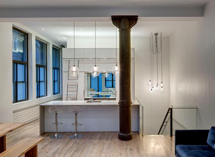 Open Kitchen Lilian H. Weinreich Architects Modern Kitchen Quartz