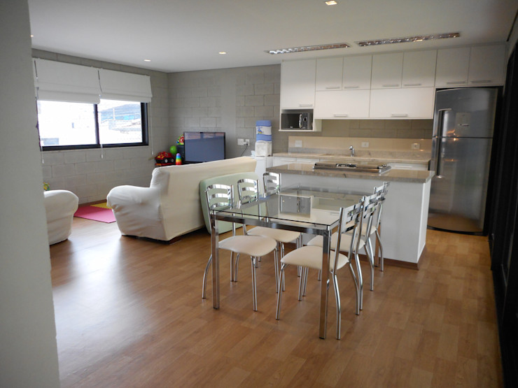 Metamorfose Arquitetura e Urbanismo Rustic style dining room