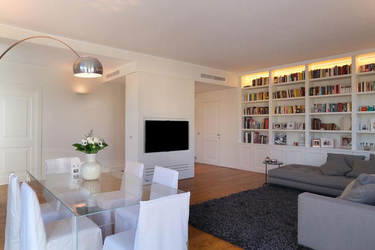 stile in bianco studio ferlazzo natoli Sala da pranzo minimalista
