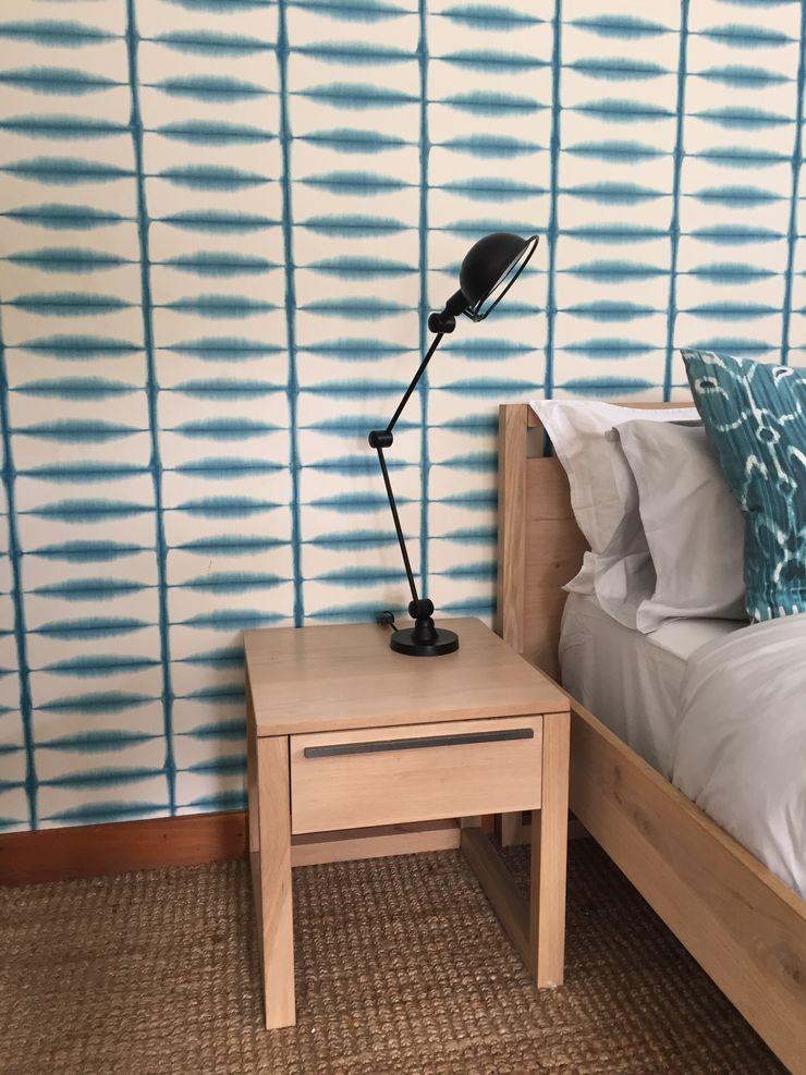 Margaret Berichon Design Klasik Yatak Odası Masif Ahşap Mavi
