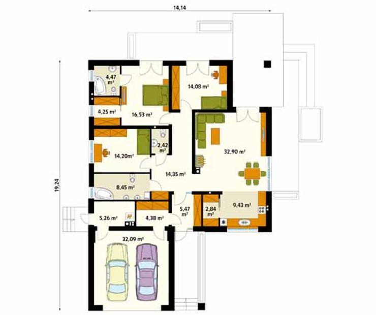 homify Paredes y pisos de estilo moderno