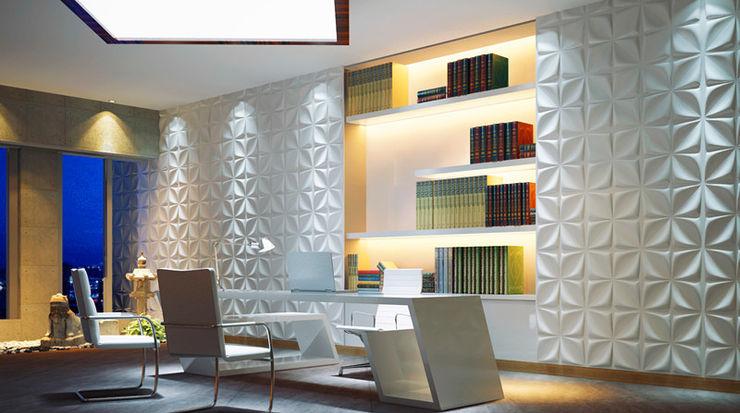 Paredes Decorativas 3D ARILO A EXCLUSIVA - Sustainable Buildings Materials Parede e pisoDecoração de parede Fibra natural Branco
