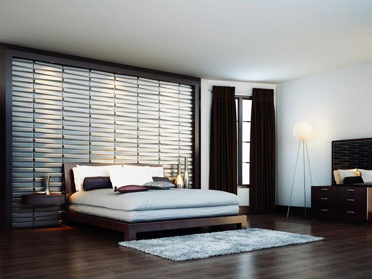 Paredes Decorativas 3D BLADET A EXCLUSIVA - Sustainable Buildings Materials Parede e pisoDecoração de parede Fibra natural Branco