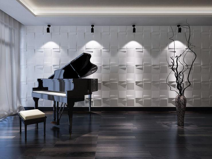 Paredes Decorativas 3D ECHO A EXCLUSIVA - Sustainable Buildings Materials Parede e pisoDecoração de parede Fibra natural Branco