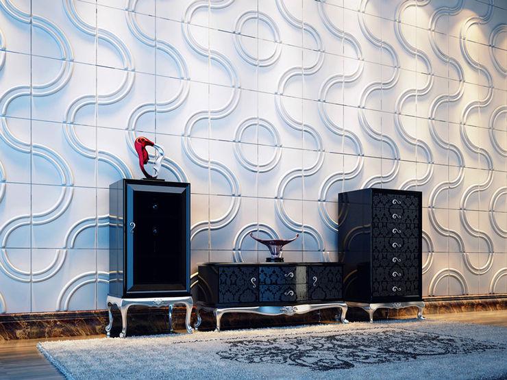 Paredes Decorativas 3D KARLSTAD A EXCLUSIVA - Sustainable Buildings Materials Parede e pisoDecoração de parede Fibra natural Branco