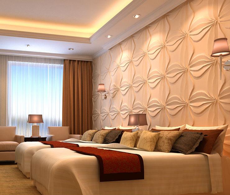 Paredes Decorativas 3D LILY A EXCLUSIVA - Sustainable Buildings Materials Parede e pisoDecoração de parede Fibra natural Branco