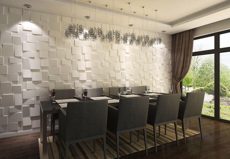 Paredes Decorativas 3D RUBIK A EXCLUSIVA - Sustainable Buildings Materials Parede e pisoDecoração de parede Fibra natural Branco