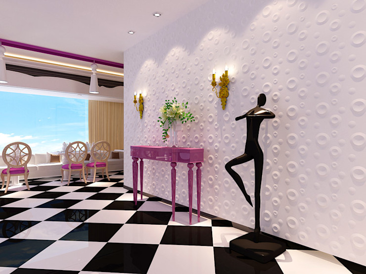 Paredes Decorativas 3D SPRING A EXCLUSIVA - Sustainable Buildings Materials Parede e pisoDecoração de parede Fibra natural Branco