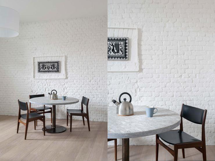 Fabio Azzolina Architetto Eclectic style dining room White