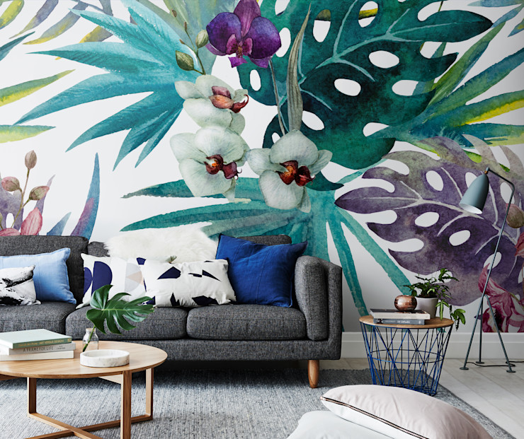 Botany in living room Pixers Tropical style living room