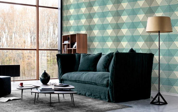 Geometric Diamonds Pixers Living room Blue